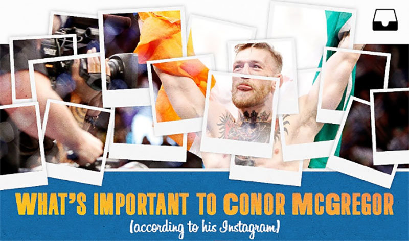 Conor McGregor Instagram posts.