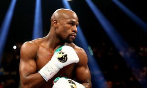 Floyd Mayweather inside the boxing ring.
