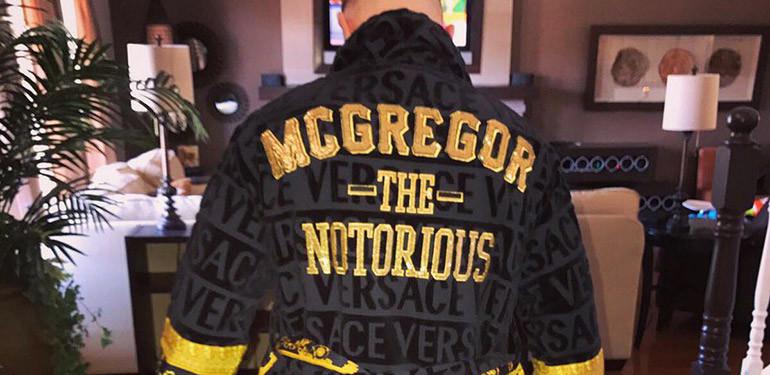 Conor McGregor in his new versace bathrobe.