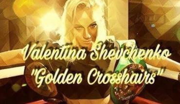 Valentina Shevchenko crosshairs.