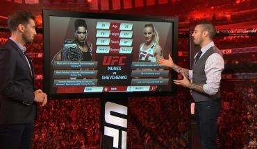UFC 215 between Amanda Nunes and Valentina Shevchenko.