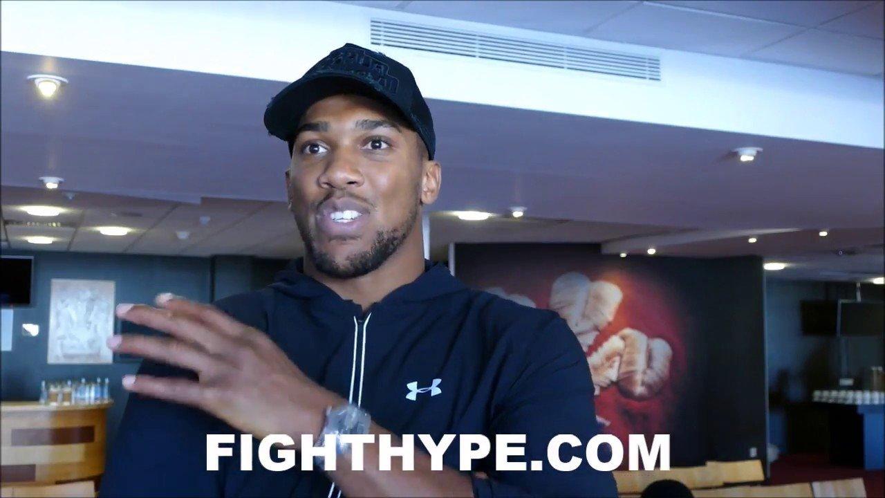 Anthony Joshua advises UFC fighters.