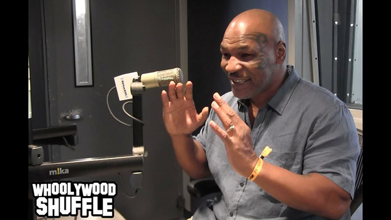 Mike Tyson podcast in studio interview.