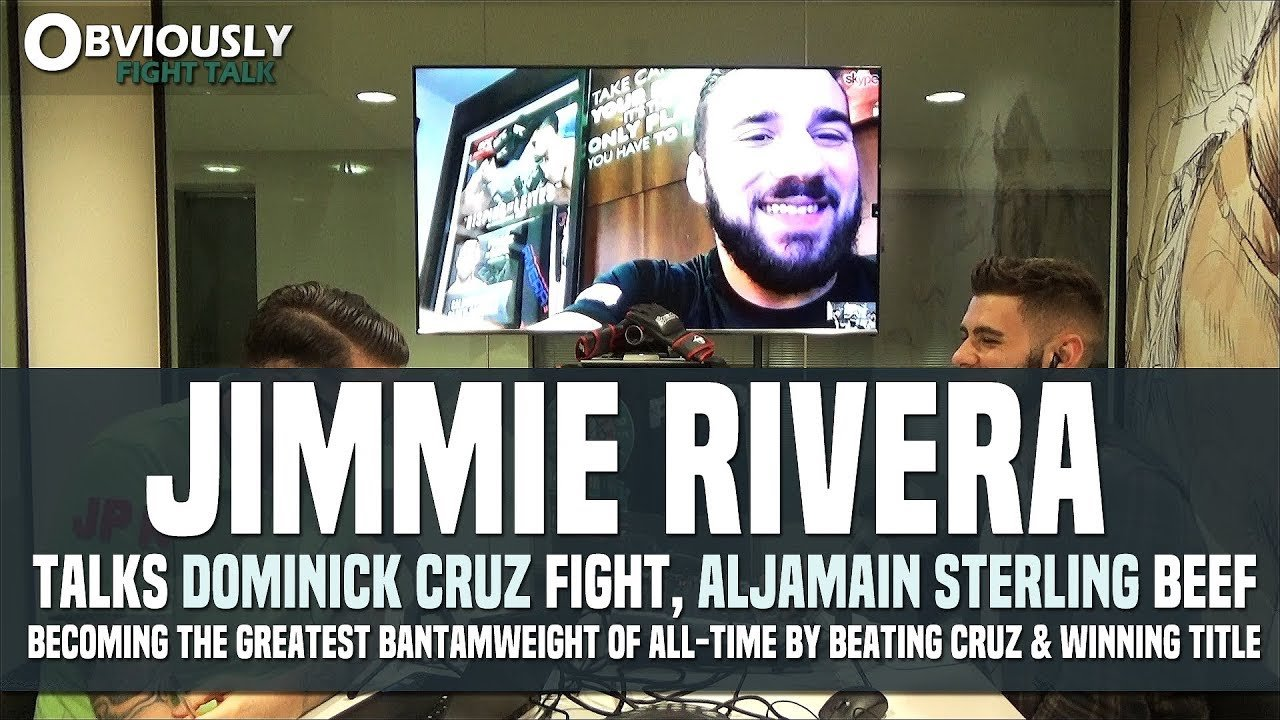 Jimmie Rivera talks fighting Dominick Cruz at UFC 219.