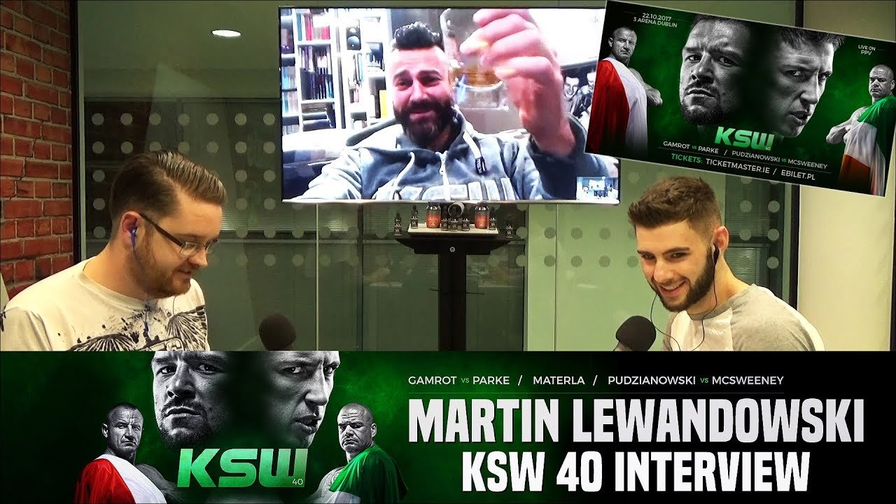 KSW 40 in Ireland Debut interview.