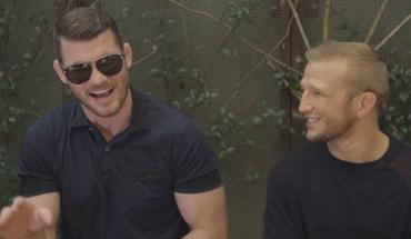 Michael Bisping with TJ Dillashaw.
