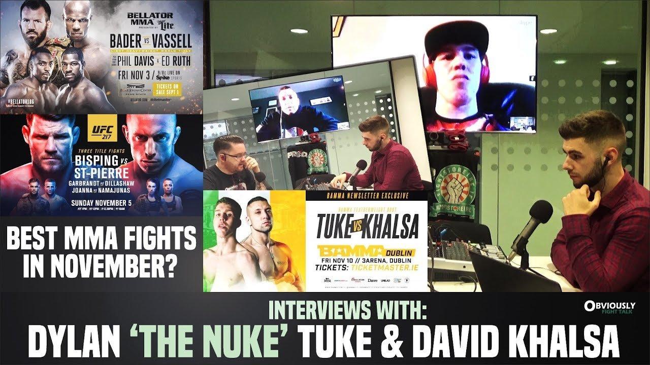 BAMMA 32's Dylan 'The Nuke' Tuke and David Khalsa.