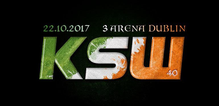 KSW 40 dublin fight poster.