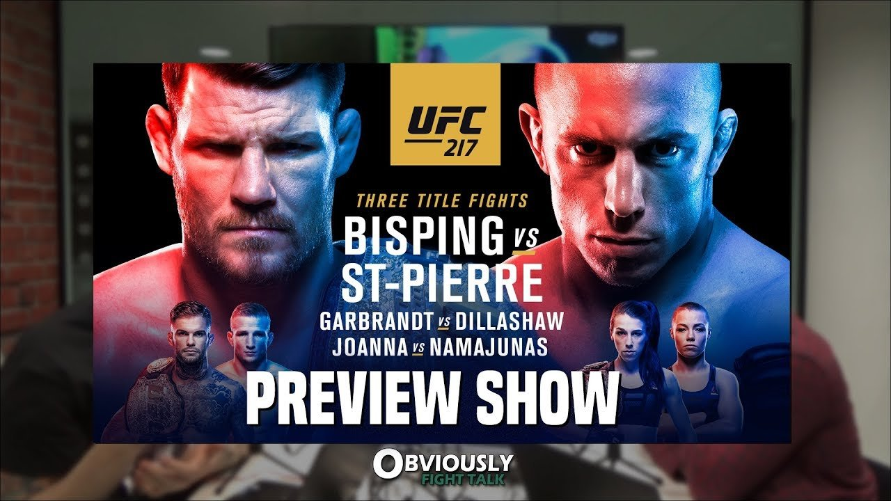Ufc 217: Bisping Vs. St-Pierre Preview.