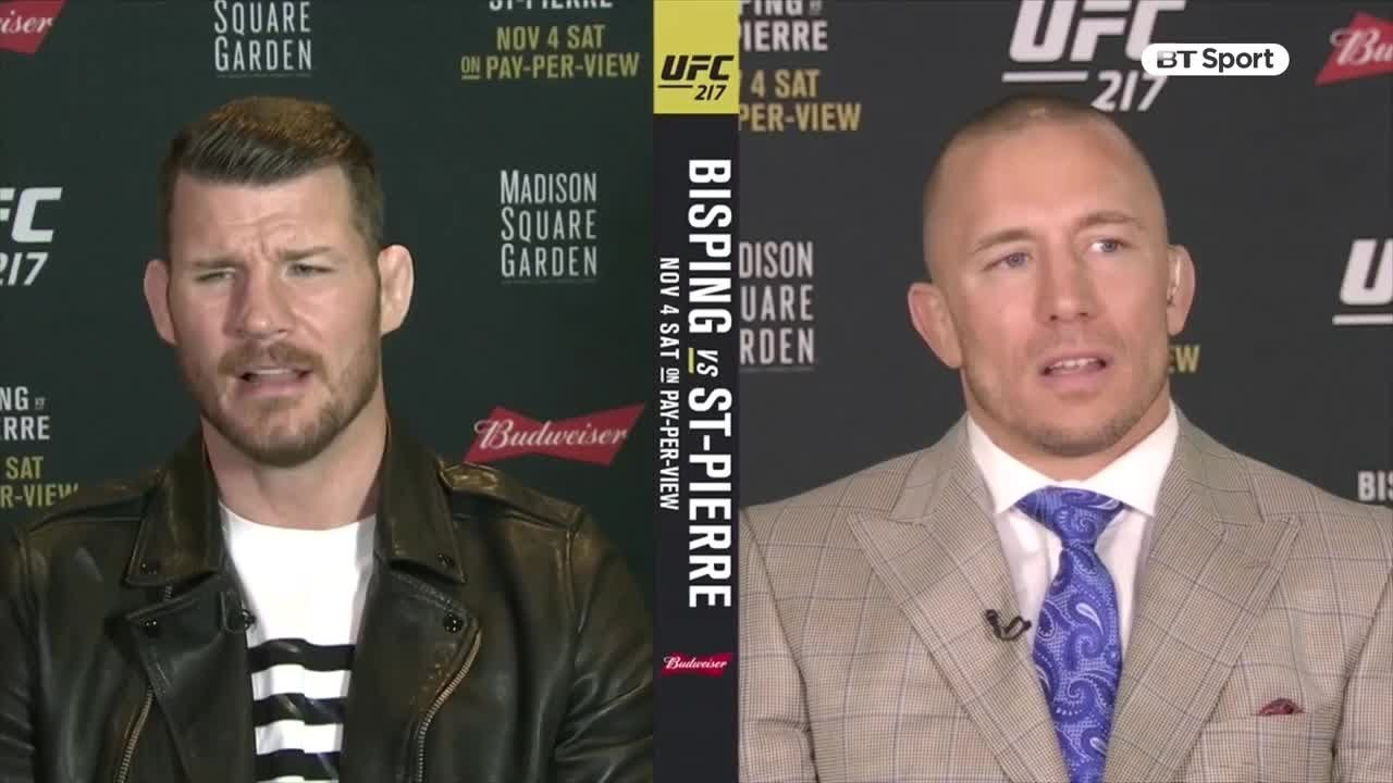 Michael Bisping and Georges St-Pierre.
