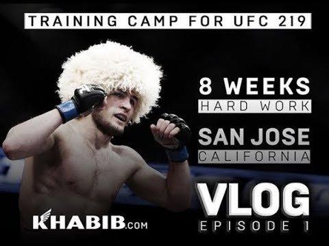 Khabib Nurmagomedov UFC 219 training camp 1.