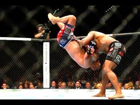 Daniel Cormier slams Dan Henderson in the UFC.