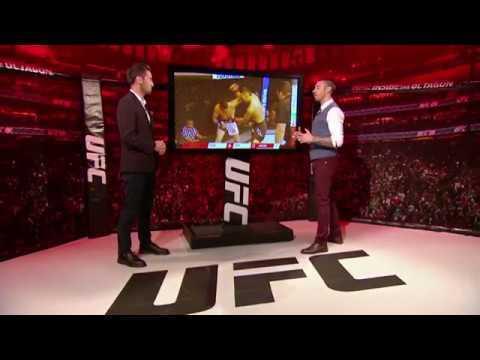 UFC 218 inside the octagon.