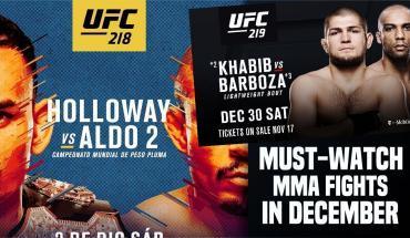 Best MMA fights december.