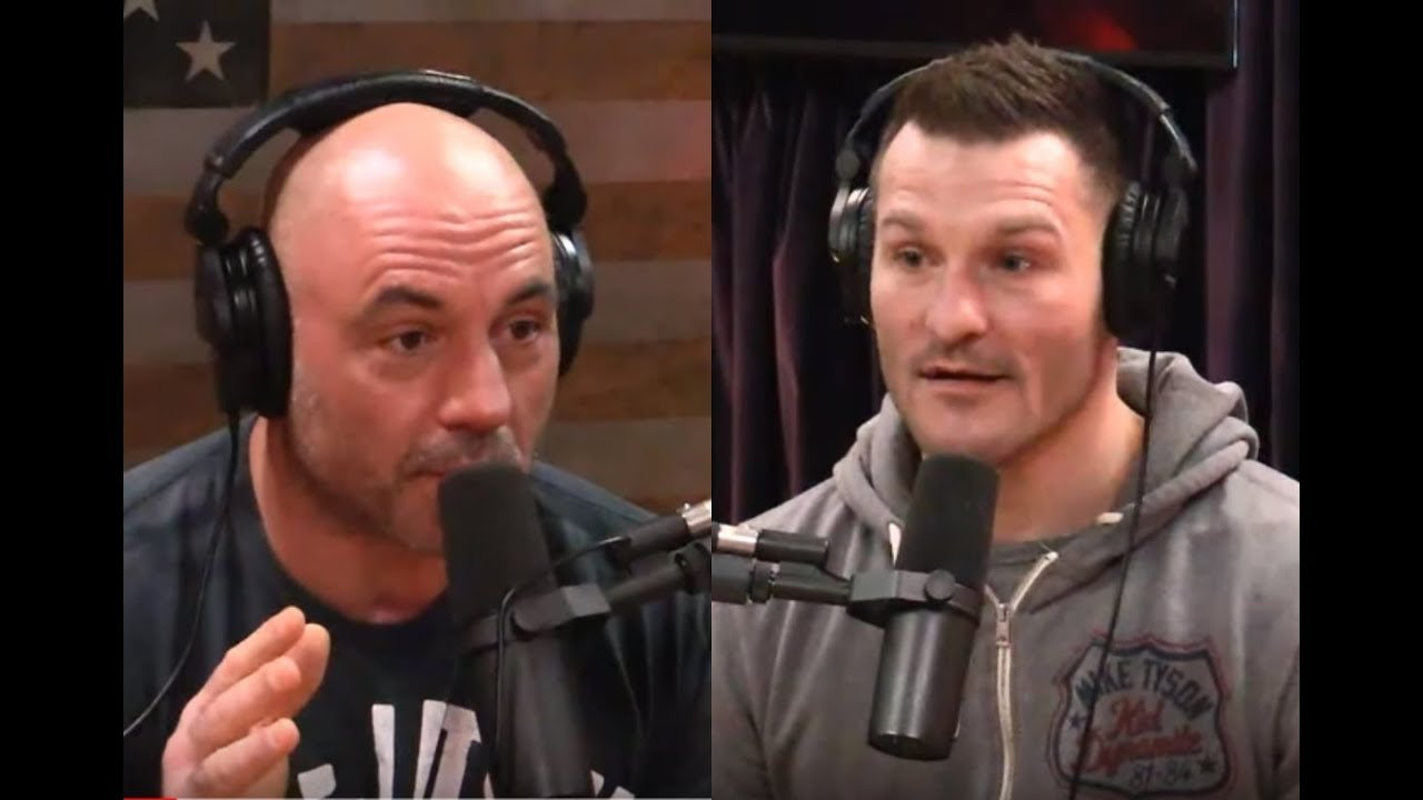 Joe Rogan and Stipe Miocic.