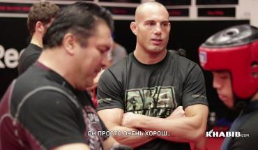 Khabib Nurmagomedov UFC 219 camp.