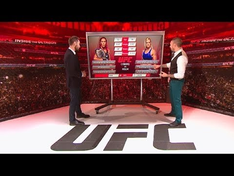 UFC 219 Cyborg vs Holm inside the octagon.
