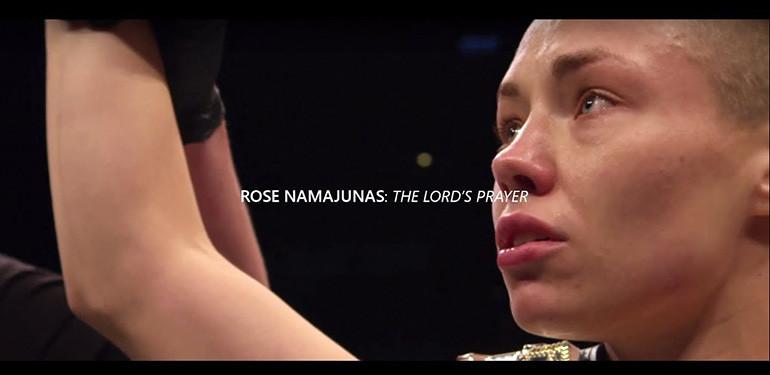 Rose Namajunas Lords Prayer Before Fights.