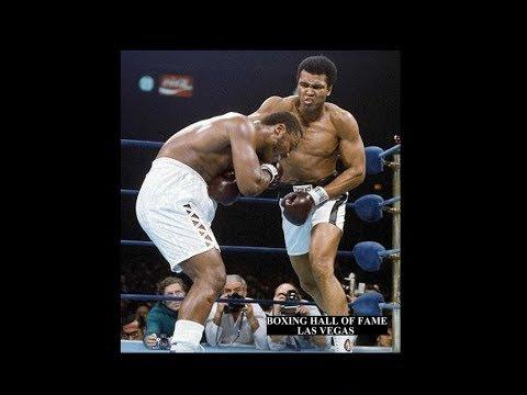 Muhammad Ali vs Joe Frazier in boxing.