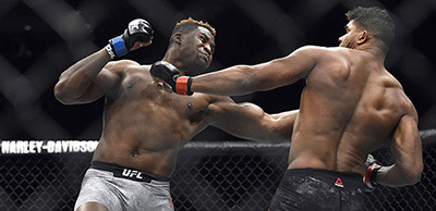 Francis Ngannou against Alistair Overeem crazy knockout.