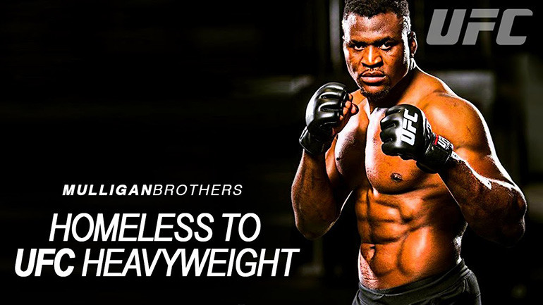 Francis ngannou once homeless to UFC.