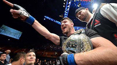 Michael Bisping UFC middleweight champion.