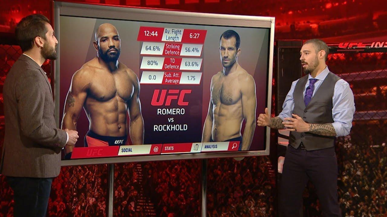 UFC 221 between Yoel Romero and Luke Rockhold.