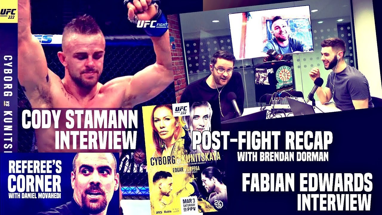 Cody Stamann joins us to discuss his big win at UFC 222.