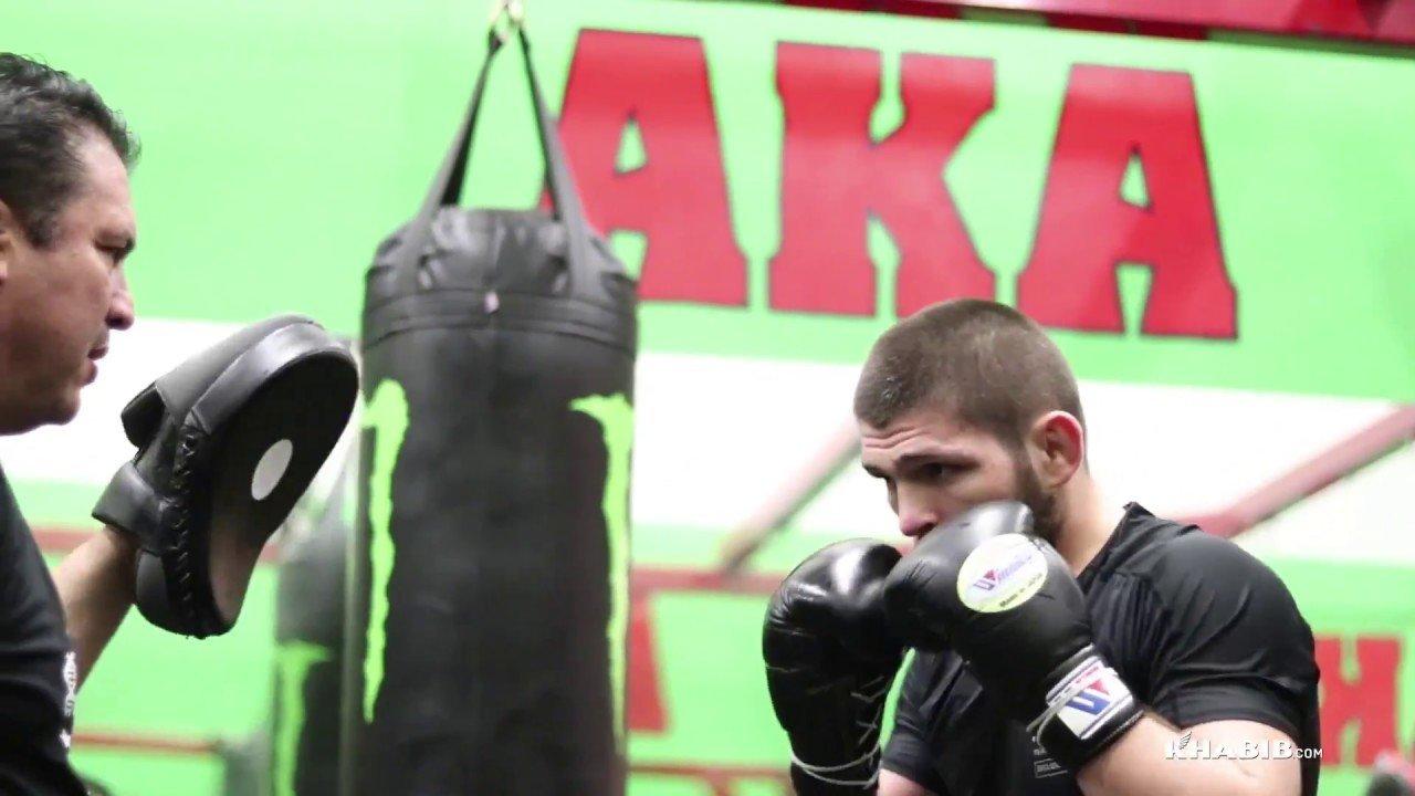 Khabib Nurmagomedov UFC 223 training camp.
