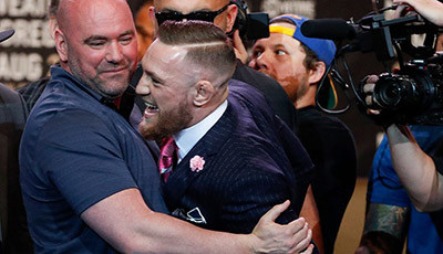 Dana white and UFC lightweight champion conor mcgregor.