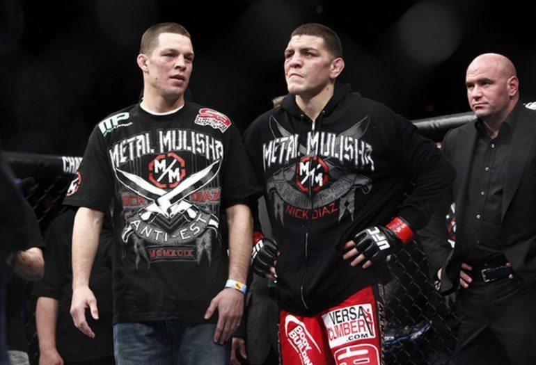 Nick Diaz with brother Nate Diaz.