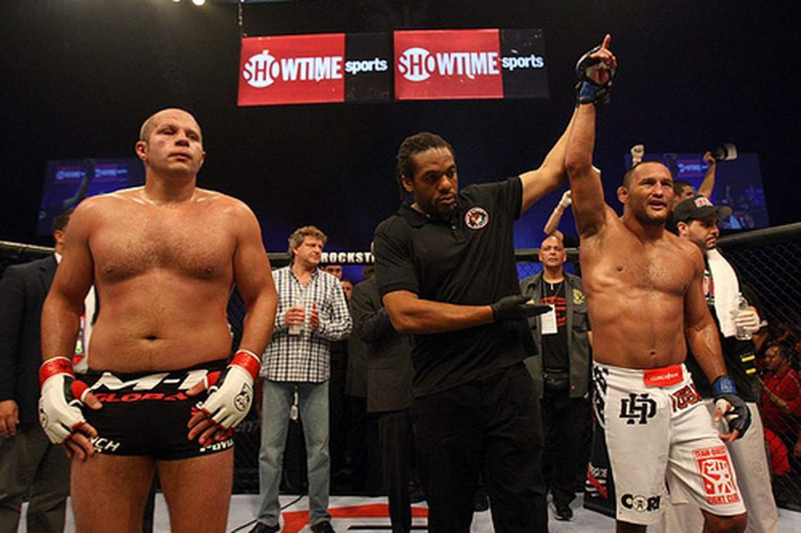 Fedor Emelianenko defeated at Strikeforce.