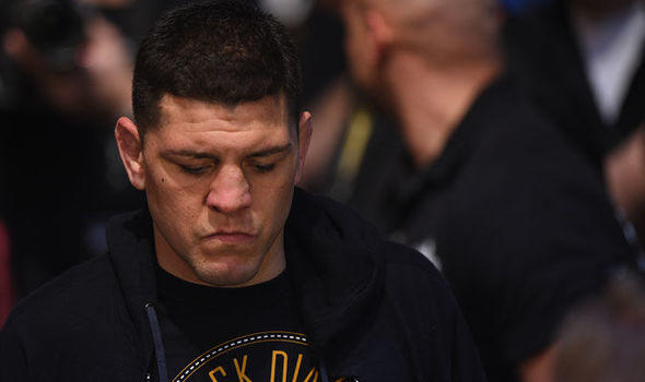 Nick Diaz UFC welterweight comeback on way to the cage .