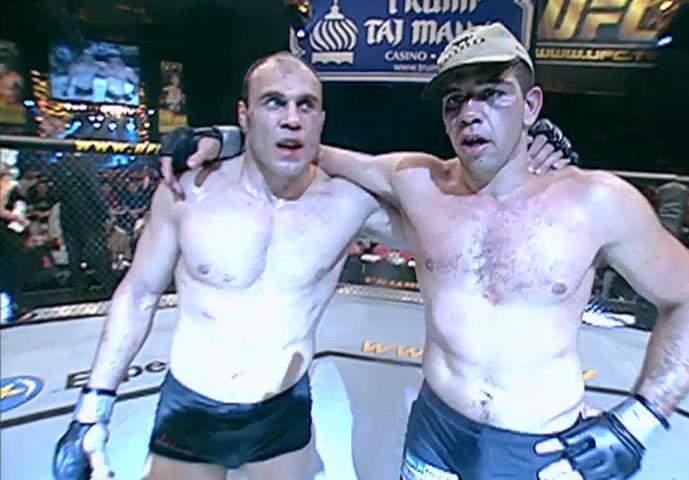 Randy Couture fights Pedro Rizzo.