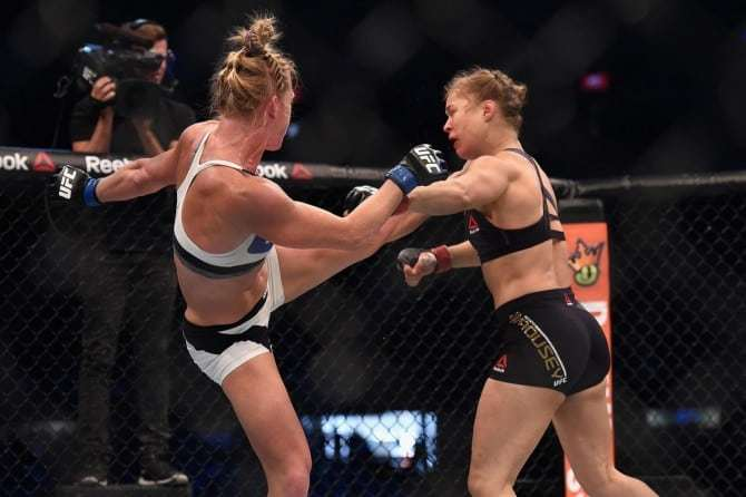 Ronda Rousey vs. Holly Holm UFC 193.