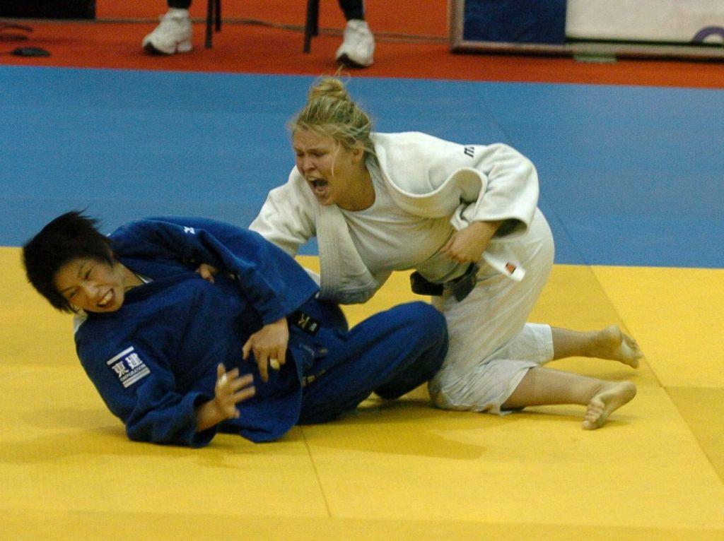 Ronda Rousey in the 2008 Olympic Games.