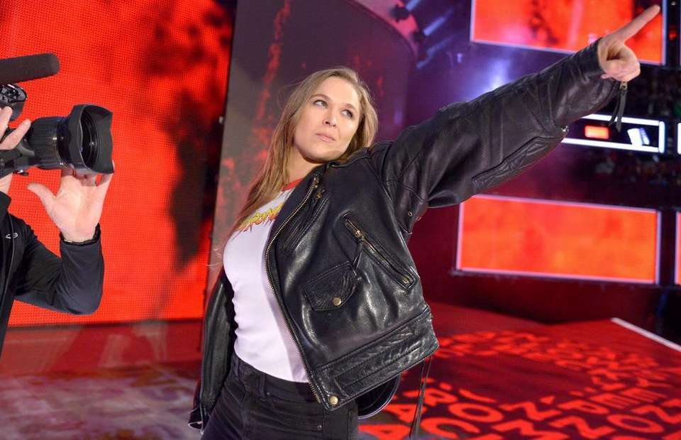 Ronda Rousey in the WWE.