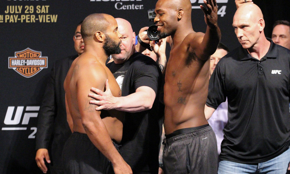 Daniel Cormier faces Jon Jones at weigh-ins.
