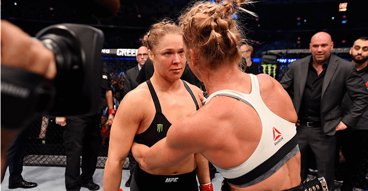 Ronda Rousey after being KO'd by Holly Holm.