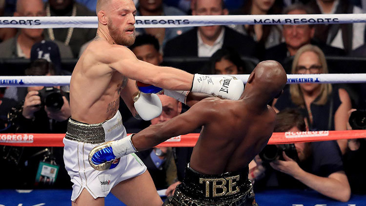 Conor McGregor fight with Floyd Mayweather.