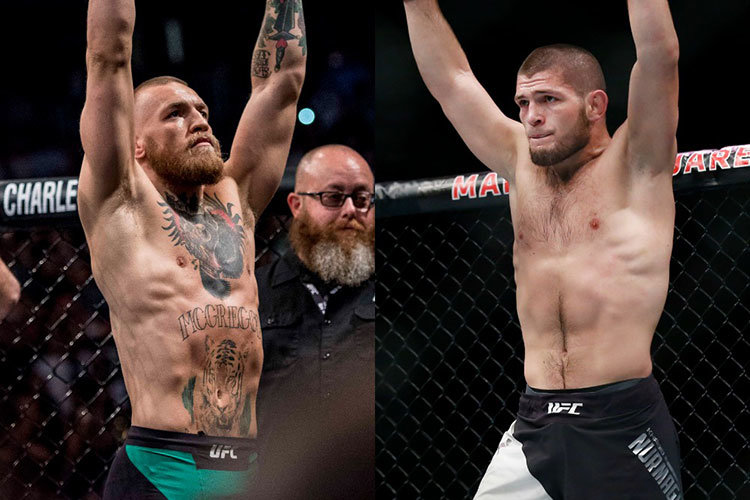 Conor McGregor against Khabib Nurmagomedov UFC 229.