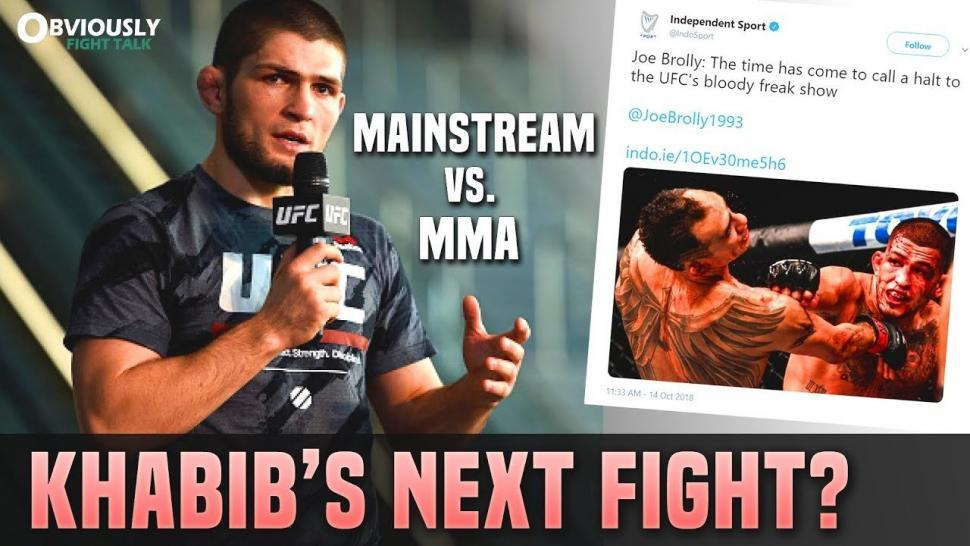 Khabib's Next Fight? Mainstream Media.