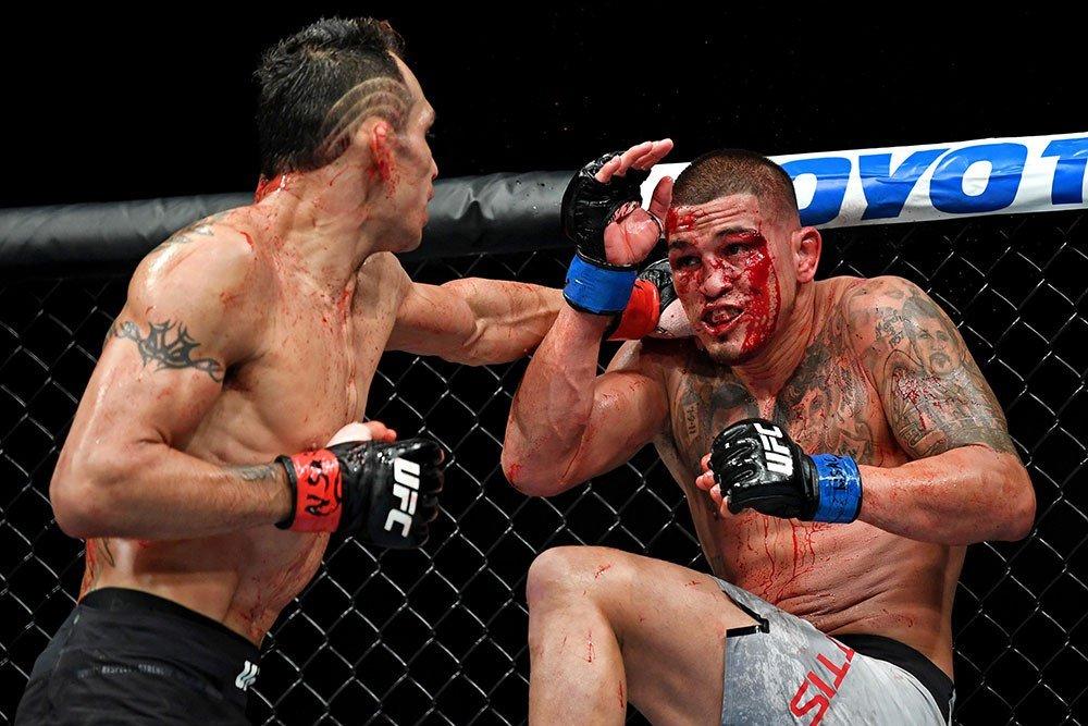 Tony Ferguson lands on Pettis UFC 229.