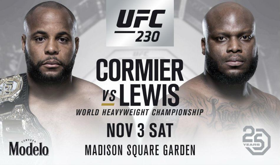 UFC 230 Daniel Cormier vs Derrick Lewis.