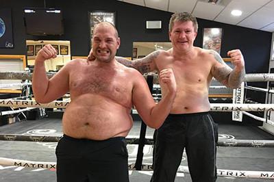Tyson fury and Ricky hatton.