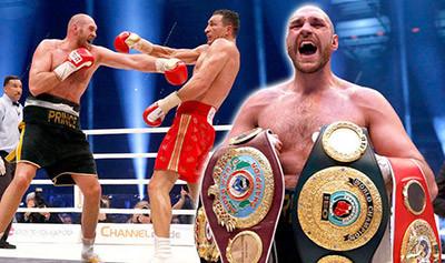 Tyson fury against Wladimir klitschko.