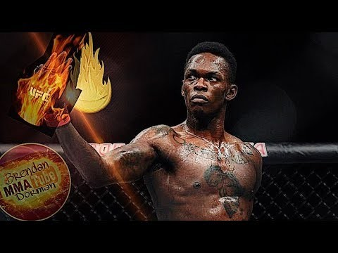 Anderson Silva passing the torch to Israel Adesanya.