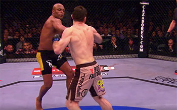 Anderson Silva knocks out Forest griffin.