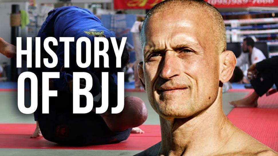 Brazilian jiu-jitsu history Steve Maxwell graphic.