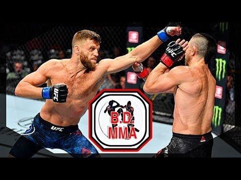 Calvin Kattar Boxing in MMA breakdown photo.